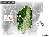 2020年01月15日の栃木県の実況天気
