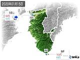 2020年01月15日の和歌山県の実況天気