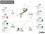 2020年01月15日の沖縄県の実況天気