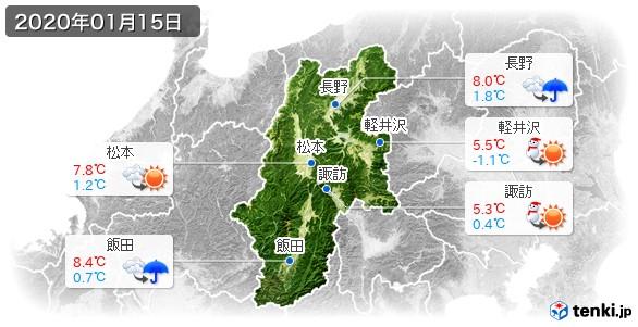 長野県(2020年01月15日の天気