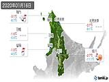 2020年01月16日の道北の実況天気