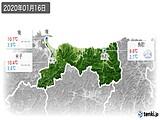 2020年01月16日の鳥取県の実況天気