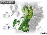 2020年01月16日の熊本県の実況天気