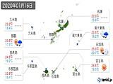 2020年01月16日の沖縄県の実況天気
