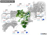 2020年01月17日の近畿地方の実況天気