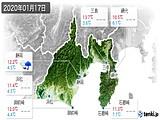 2020年01月17日の静岡県の実況天気