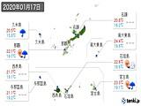 2020年01月17日の沖縄県の実況天気