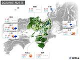 2020年01月21日の近畿地方の実況天気