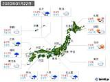 2020年01月22日の実況天気