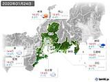 2020年01月24日の東海地方の実況天気