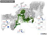 2020年01月26日の東海地方の実況天気