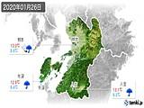2020年01月26日の熊本県の実況天気