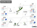2020年01月26日の沖縄県の実況天気