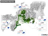 2020年01月27日の東海地方の実況天気
