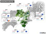 2020年01月27日の近畿地方の実況天気