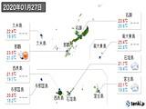 2020年01月27日の沖縄県の実況天気