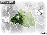 2020年01月28日の埼玉県の実況天気