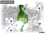 2020年01月28日の兵庫県の実況天気