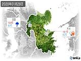 2020年01月28日の大分県の実況天気