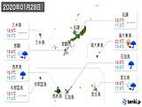 2020年01月28日の沖縄県の実況天気