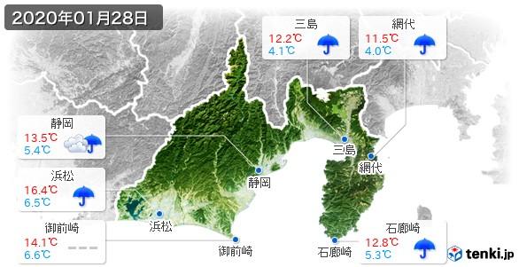 静岡県(2020年01月28日の天気