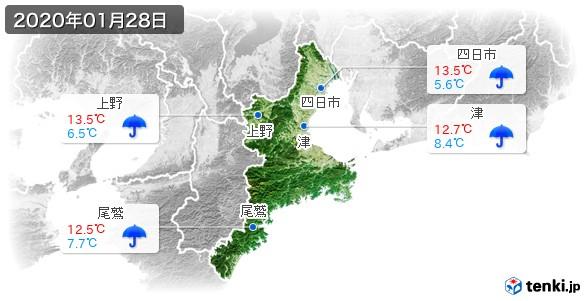 三重県(2020年01月28日の天気