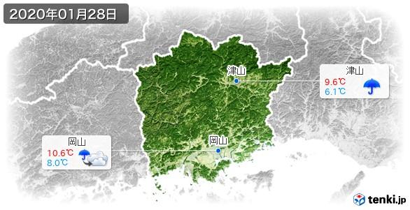 岡山県(2020年01月28日の天気