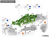 2020年01月29日の中国地方の実況天気