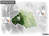 2020年01月29日の埼玉県の実況天気