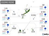 2020年01月29日の沖縄県の実況天気
