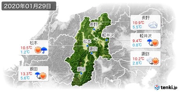 長野県(2020年01月29日の天気