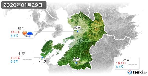 熊本県(2020年01月29日の天気