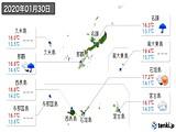 2020年01月30日の沖縄県の実況天気