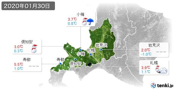 道央(2020年01月30日の天気