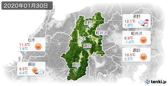 長野県(2020年01月30日の天気