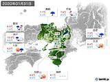 2020年01月31日の近畿地方の実況天気