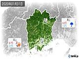 2020年01月31日の岡山県の実況天気