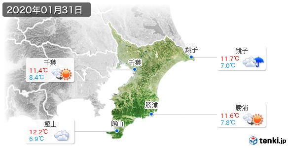 千葉県(2020年01月31日の天気
