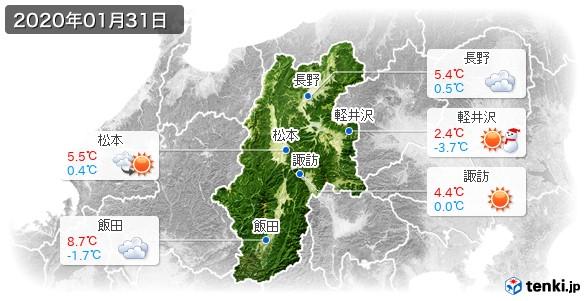 長野県(2020年01月31日の天気