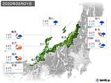 2020年02月01日の北陸地方の実況天気