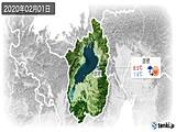 2020年02月01日の滋賀県の実況天気