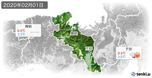 京都府(2020年02月01日の天気