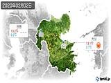 2020年02月02日の大分県の実況天気