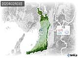 2020年02月03日の大阪府の実況天気
