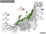 2020年02月04日の北陸地方の実況天気