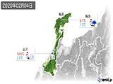 2020年02月04日の石川県の実況天気