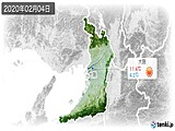 2020年02月04日の大阪府の実況天気