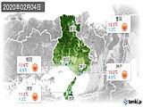 2020年02月04日の兵庫県の実況天気