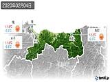 2020年02月04日の鳥取県の実況天気