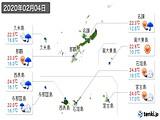 2020年02月04日の沖縄県の実況天気